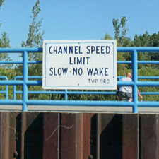 Channel Speed Limit Sign